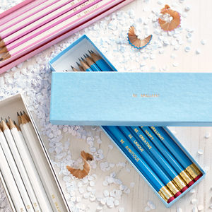 Personalised Gift Boxed Pencils - off to university
