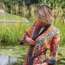 Indian Summer Short Kimono Dressing Gown