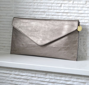 Personalised Metallic Clutch Bag - 30th birthday gifts