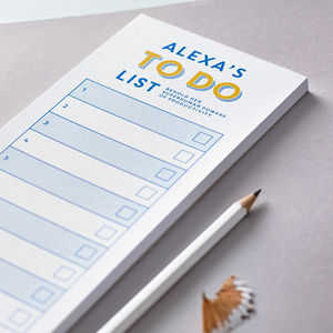 Personalised Corporate To Do List Notepad