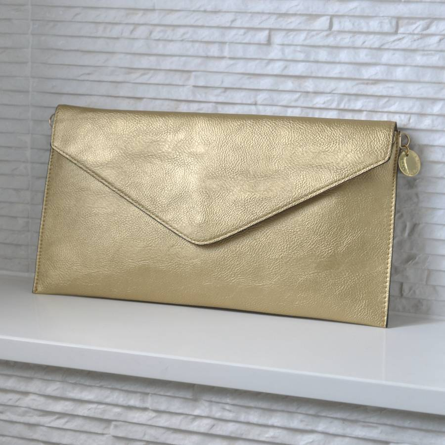 personalised metallic clutch bag by lily belle ...