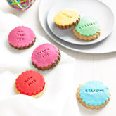 Ten Customised Colourful Cookies - food & drink