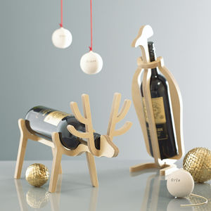 Penguin Or Reindeer Corporate Gift Wine Rack
