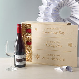 Personalised Corporate Christmas Wine Box