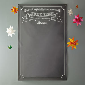 Personalised Chalkboard Office Party Backdrop