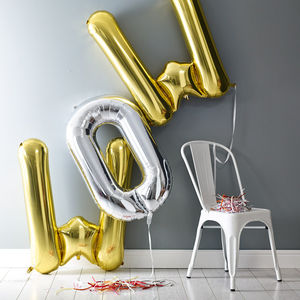 Jumbo Balloon Letter - children's room