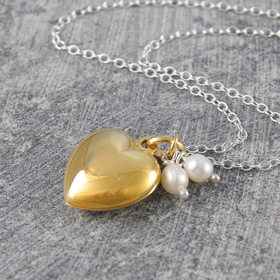shaped clear necklace plated pendant locket gold cz teens itm heart girls lockets
