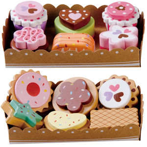 Wooden Cakes And Biscuits Set - baby & child