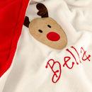 Rudolf Personalised Baby Blanket