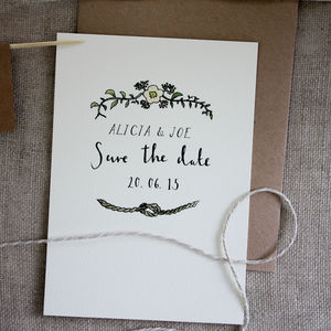 Bespoke Alicia Save The Date Postcard - wedding stationery