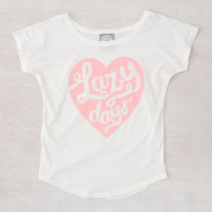 'Lazy Days' Women's Loose Fit T Shirt - fashion