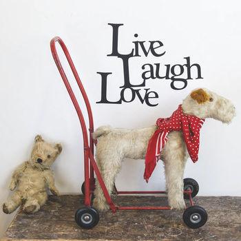 'Live, Laugh, Love' Vinyl Wall Sticker