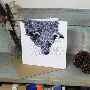 Binturong Illustration Square Greetings Card - shop by category