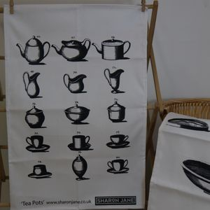 Teapots Tea Towel