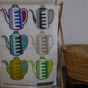Vintage Coffee Pots Tea Towel