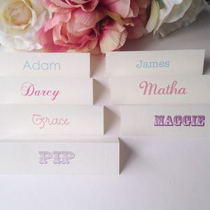 Personalised Name Place Card - wedding stationery