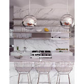 Bar Stool, Chrome Silver Bertoia Style Bar Stool - home