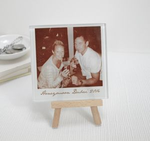 Personalised Glass Photo And Mini Easel - gifts for women