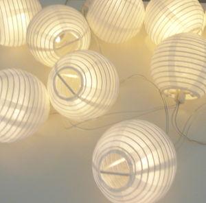 Paper Lantern Light Garland - fairy lights & string lights