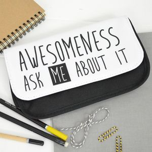 Awesome Wording Pencil Case - stationery-lover