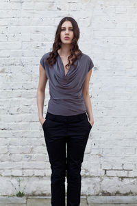 Grey Slinky Zoe Draped Top