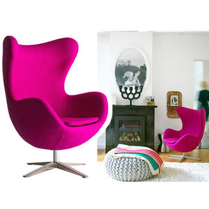 Armchair, Cocoon Egg Style, Modern Arm Chair - home
