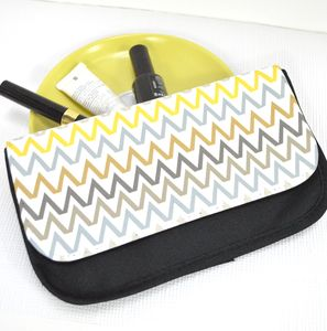 Chevron Pattern Make Up Bag Or Purse - purses & wallets