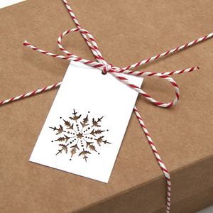 10 Laser Cut Snowflake Christmas Gift Tags - gift tags & labels