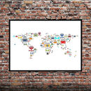 Campervan World Map Print