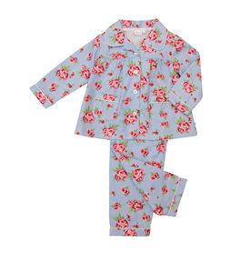 Brushed Woven Rose Print Traditional Pyjamas - clothing