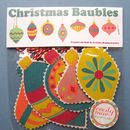 Fabric Christmas Baubles Three Packs Of Five