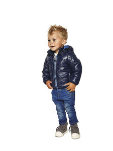 Boys Malvin Puffer Jacket In Navy Blue