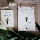 Bespoke Elsie Postcard Wedding Invitation