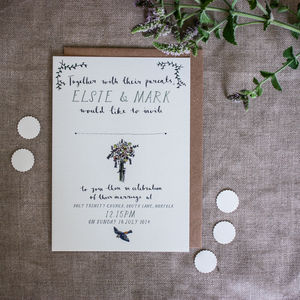 Bespoke Elsie Postcard Wedding Invitation - invitations