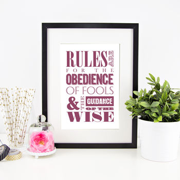 Personalised 'Favourite Quote' Print
