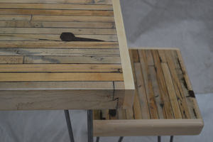 Reclaimed Maple Stool Boxcar Maple / Hairpin Legs - furniture