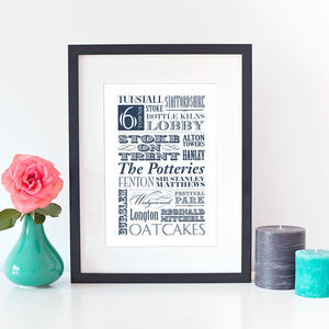 Personalised Favourite Place Print - maps & locations