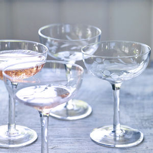 Dillie Champagne Saucers, Set Of Four - best wedding gifts