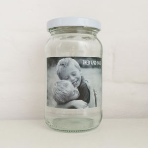 Personalised Photo Message Jar