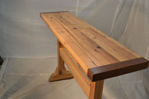 Trestle Table: Reclaimed Oak With A Traditional Angle