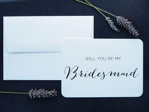 'Will You Be My Bridesmaid' Letterpress Card - be my bridesmaid?