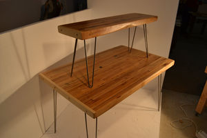 Reclaimed Maple Bench Mid Century Modern / Hairpin Legs - kitchen