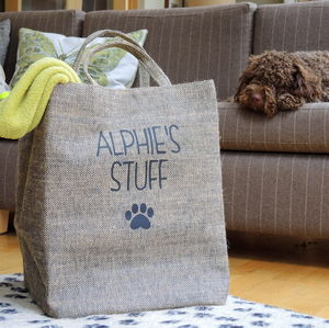 Jute Style Personalised Pet Storage Bag - home accessories
