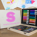 Personalised Wooden Art Box Set
