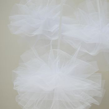 White Net Wedding Decoration