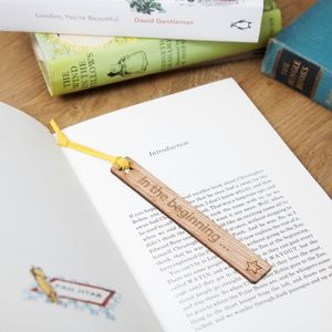 Personalised 'In Your Own Words' Wooden Bookmark - desk accessories
