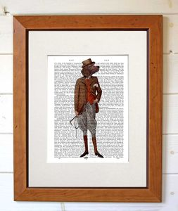 Red Setter Rider, Dictionary Print - contemporary art