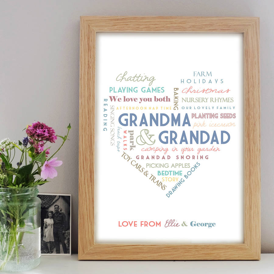 Personalised grandparent print by little pieces personalised grandparent print negle
