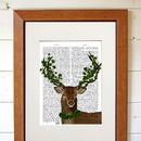 Deer Art Print, The Green King