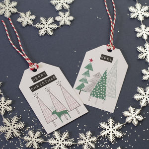 A Set Of Four Woodland Gift Tags